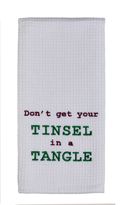 Tinsel In A Tangle Dishtowel