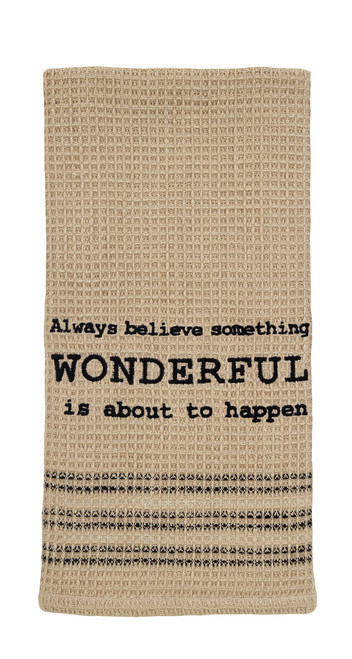 Always Believe Dishtowel