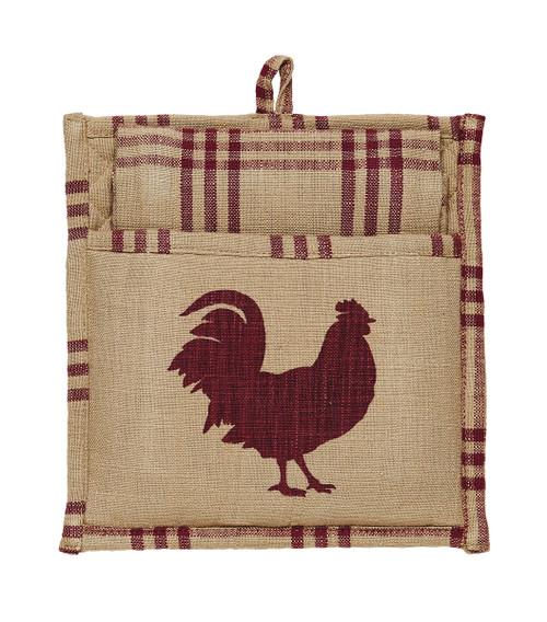 Red Rooster Potholder Gift Set -2 Peice set