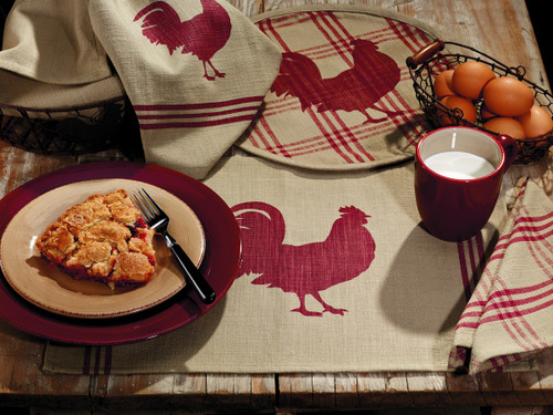 Red Rooster Short Table Runner