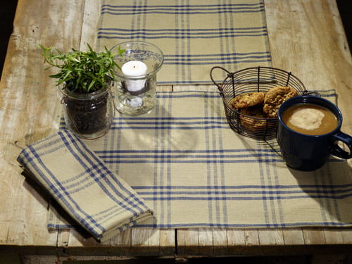 Cottonwood Blue Short Table Runner
