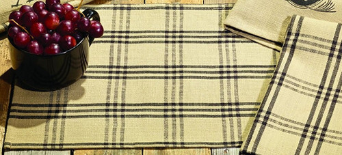 Cottonwood Black Placemat