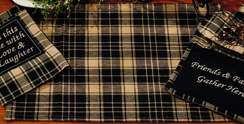 Heritage Check Black Placemat