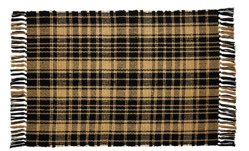 Heritage Check Black Rectangle Rug