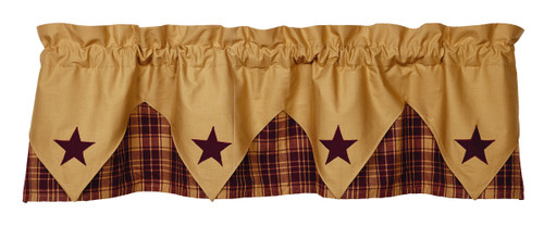 Heritage Star Wine Pointed Valance