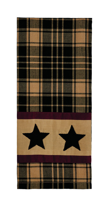Heritage Star Black Dishtowel