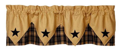 Heritage Star Black Pointed Valance