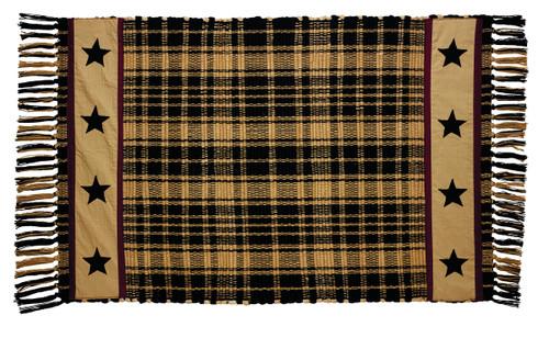 Heritage Star Black Rectangle Rug