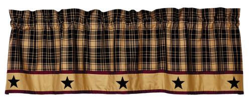 Heritage Star Black Valance