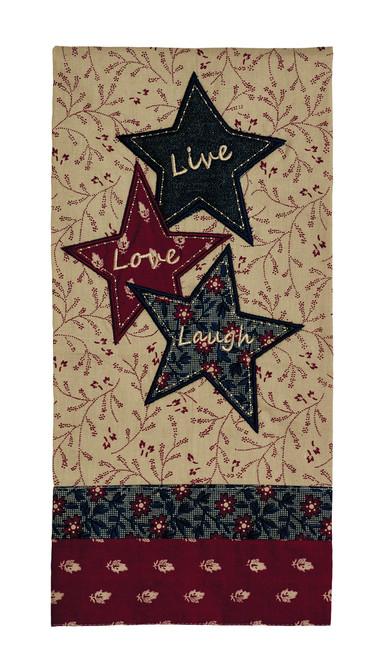 """Liberty """"Live Love Laugh"""" Dishtowel"""