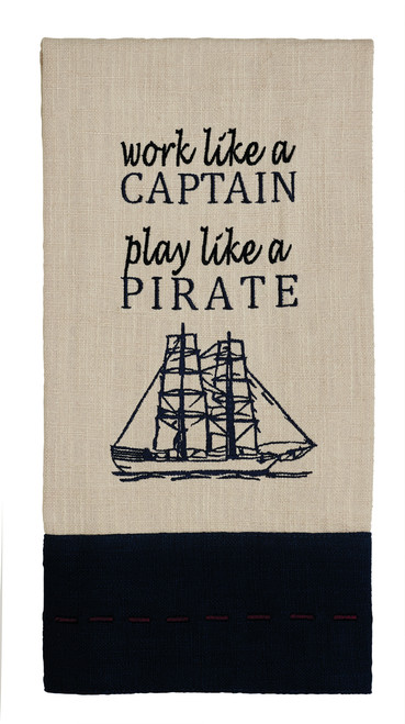 Maritime Work Like A Captain Dishtowel