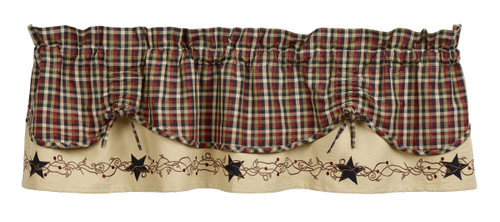 Tangled Berries Scalloped Valance