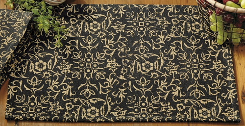 Evelyn Black Placemat