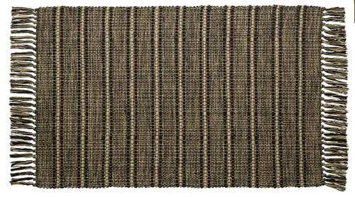 Black Terrace Rectangle Woven Rug