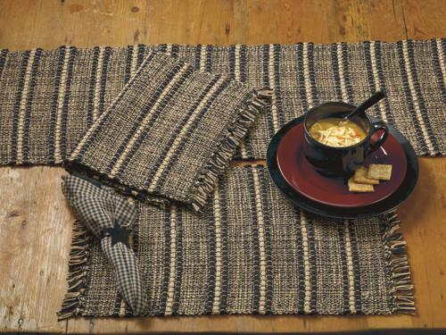 Black Terrace Short Table Runner