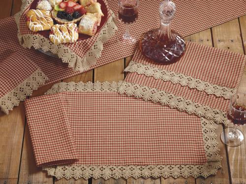 Ava Wine Long Table Runner