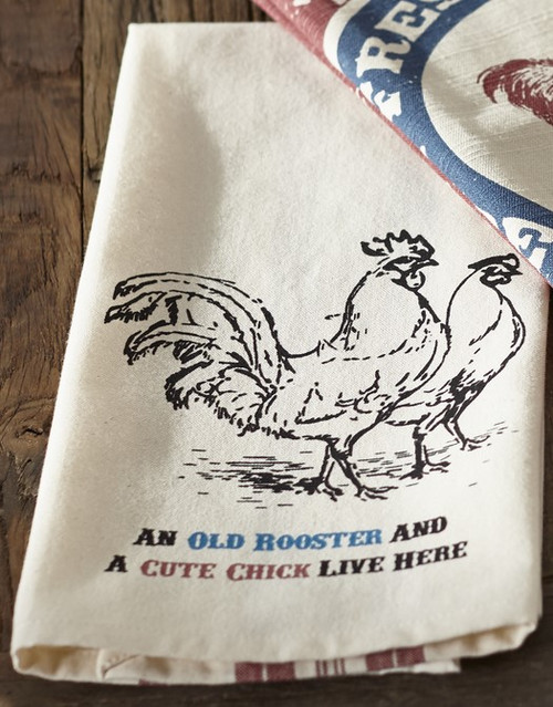 "Farm Feed ""Old Rooster"" Dishtowel"