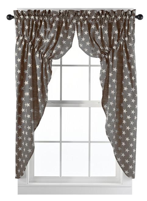 Stargazer Charcoal Prairie Curtain Set