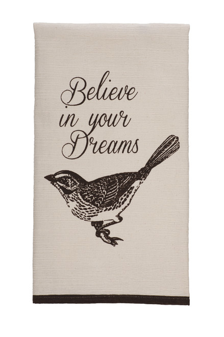 """Cottage Grove """"Believe In Your Dreams"""" Dishtowel"""