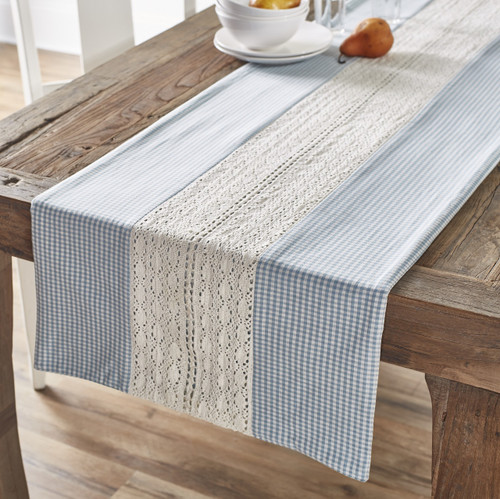 Nottingham Blue Table Runner