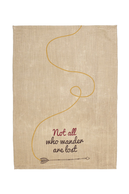 "Lost In The Stars ""Not All Who Wander"" Dishtowel"