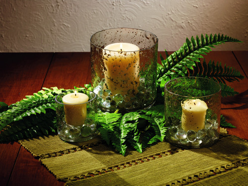 Bubble Glass Candle Holders - Set Of 3