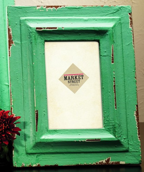 Small Sea Mist Green Wood Photo Frame