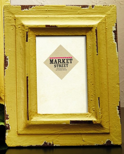 Small Lemon Yellow Wood Photo Frame