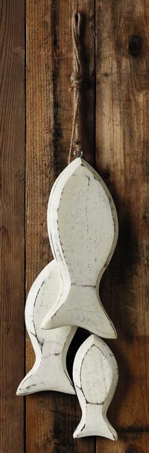 White Wood Fish Garland