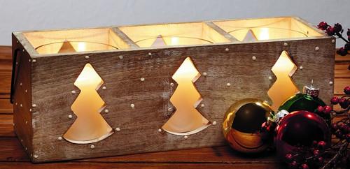 Three Tree Wood Candle Box