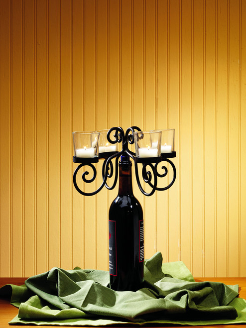 Four Candle Wine Bottle Topper