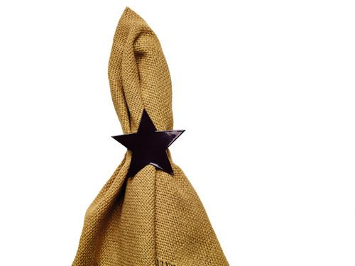 Black Star Napkin Ring