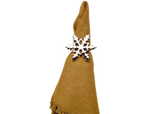 Silver Snowflake Napkin Ring