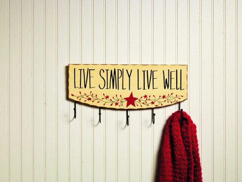 Live Simply Live Well Hook Board