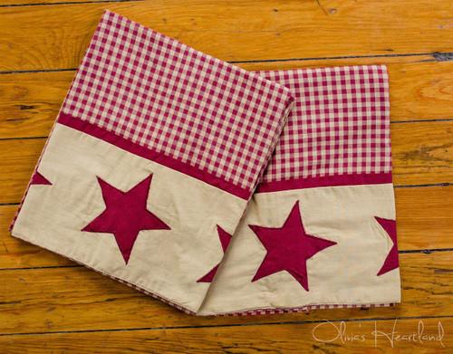 Jamestown Burgundy Standard Pillowcase - Set of 2