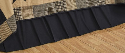 California King Solid Black Bed Skirt