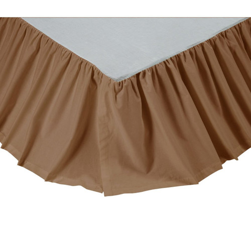 King Solid Tan Bed Skirt