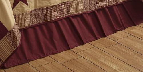 California King Solid Burgundy Bed Skirt