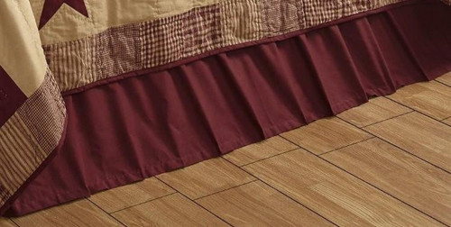 Twin Solid Burgundy Bed Skirt