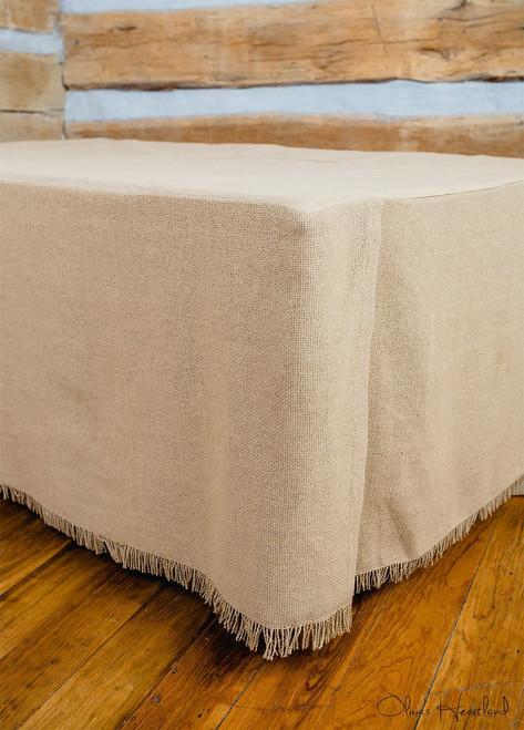 Deluxe Burlap Natural Tan Twin Bed Skirt