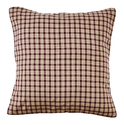 Plum Creek Plaid Fabric Pillow Cover