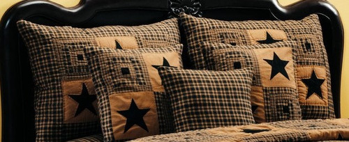 Vintage Star Black King Sham