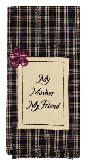 Cambridge Black My Mother Dishtowel