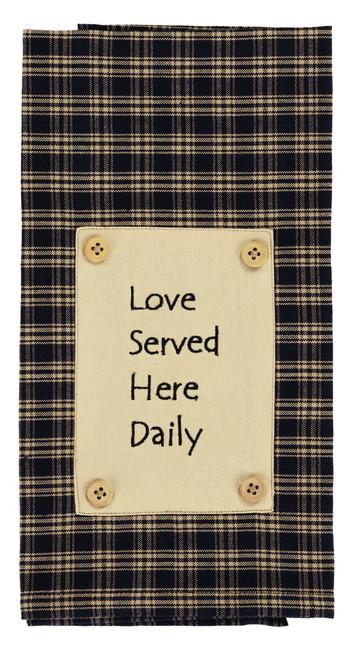 Cambridge Navy Love Served Dishtowel