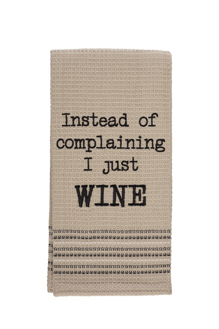 "Just Wine Dishtowel: 20""X28"""