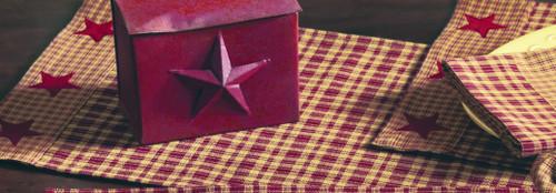 Vintage Star Wine Short Table Runner