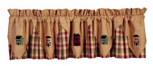 Saltbox Houses Apple Cider Valance