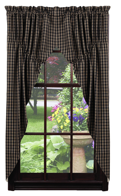 Cambridge Black Prairie Curtain Set