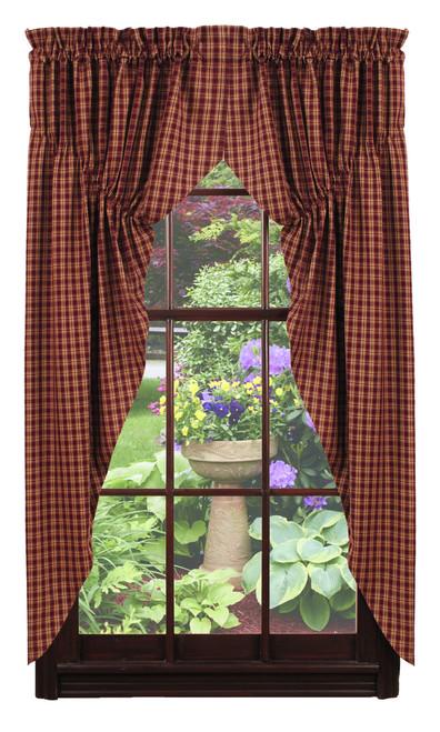 Cambridge Wine Prairie Curtain Set