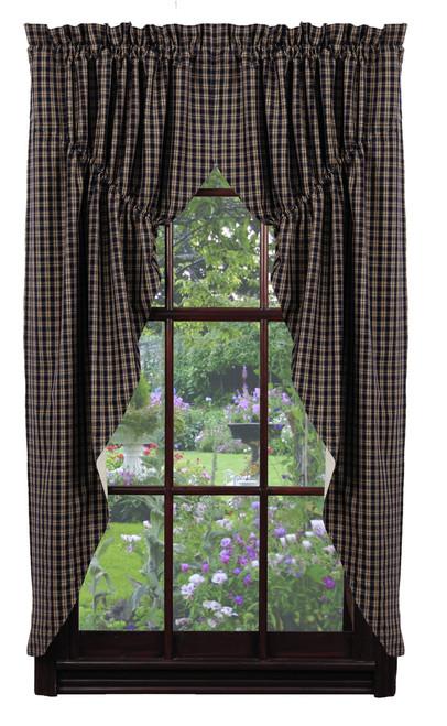Cambridge Navy Prairie Curtain Set